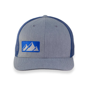 Flat Brim Hat NWKW Knife Mountain Logo - Heather Gray