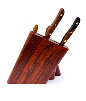 7pc Chef Knife Set & Block Ironwood.