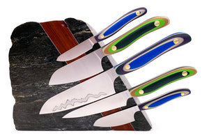 Cloudveil Dome 5pc Chef Knife Rock Block