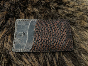 Wilburn Forge Beaver Tail and Moose Front Pocket Wallet
