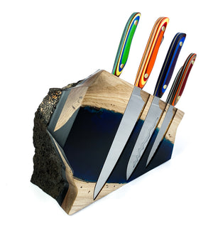 Tahiti 7pc Chef Knife Rock Block.
