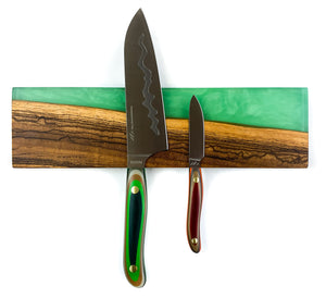 Emerald Pool Resin Knife Magnet 14""