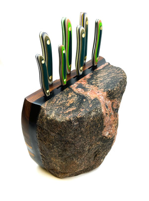Split Rock 7pc Chef Knife Rock Block.