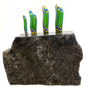 Kolana Rock 7pc Chef Knife Rock Block.
