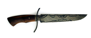 Clayton Martin Damascus Bowie Knife