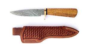 Gary Rodewald Firestorm Damascus Fixed Blade Hunter