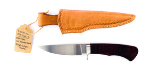 Mike Clark Jr. #3 Custom Hunter W/ Ringed Gidgee Handle, 4 5/8'' Blade