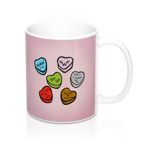 Happy Weezentine's Day Hearts Mug 11oz