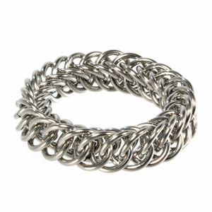 A steel persian chainmaille ring.
