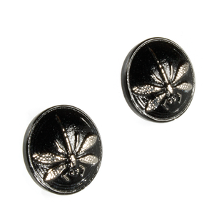 A pair of czech glass stud earrings.