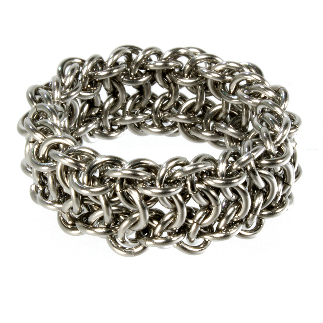 A steel european chainmaille ring.