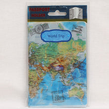 Travel Map PVC Passport Cover