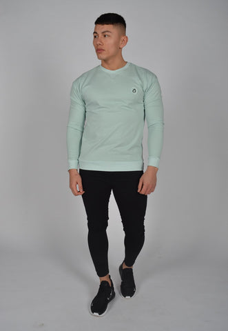 DB Label: LOGO SWEATSHIRT - ASH GREEN
