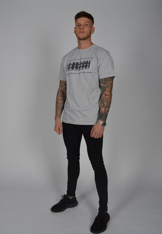 DB Label: NECK T-SHIRT WITH LOGO - GREY