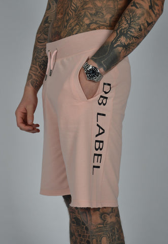 DB Label: CUT & SEW PANEL SWEATSHORT - PINK