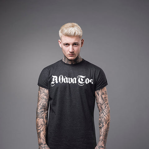 Street Noir: Long round bottom Ham Tee - Black