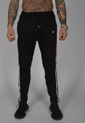 DB Label: STRIPED JOGGERS - BLACK