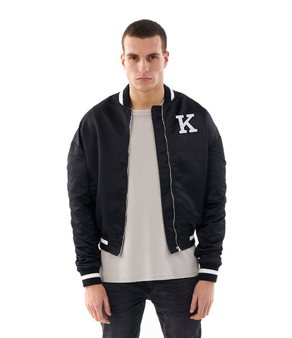 Khzari: Black Bomber Jacket