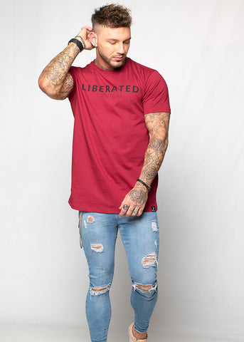 Liberated: Longline T-shirt - Ruby