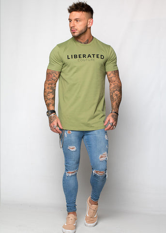 Liberated: Longline T-shirt - Peridot