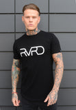 Revered: Curved Hem Tee - Black