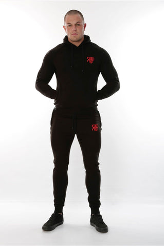 Rockedup: Black & Red Stripe Tracksuit