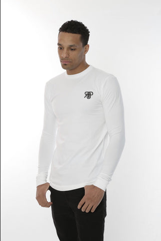 Rockedup: Long Sleeve fitted tee - White