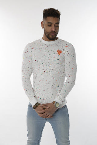 Rockedup: Long Sleeve fitted tee - Splatter