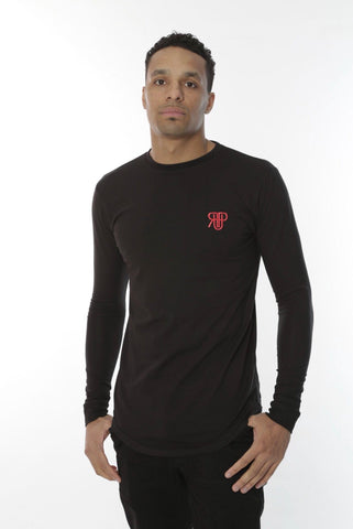 Rockedup: Long Sleeve fitted tee - Black