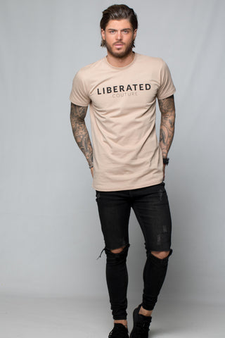 Liberated: Longline T-shirt Topaz