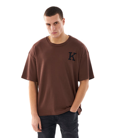 Khzari: Signature T-shirt - Brown
