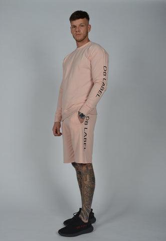 DB Label: CUT & SEW PANEL SWEATSHIRT - PINK