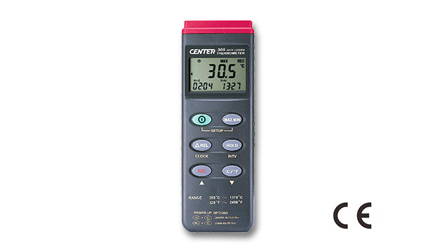 Center 305 Single Input T/C Thermometer with Logging