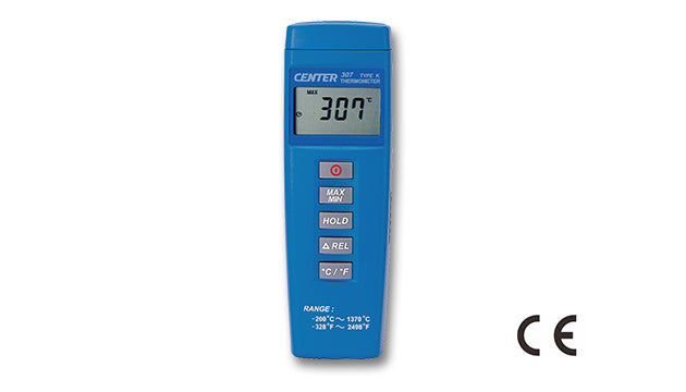 Center 307 K-Type Thermocouple Thermometer, single input