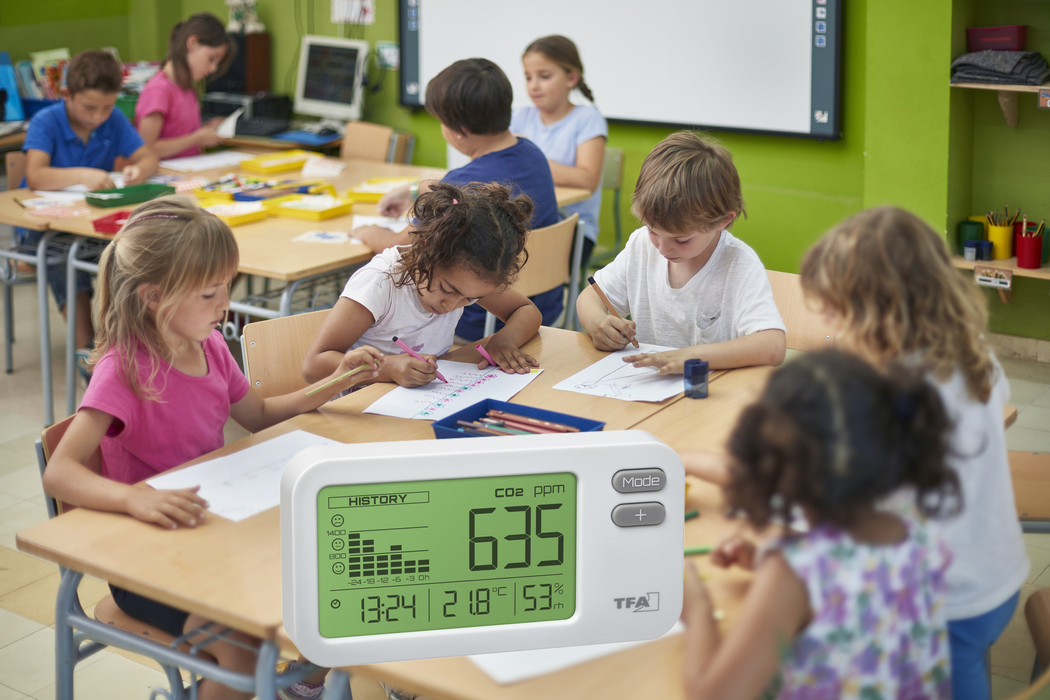 CO2 levels in school classrooms