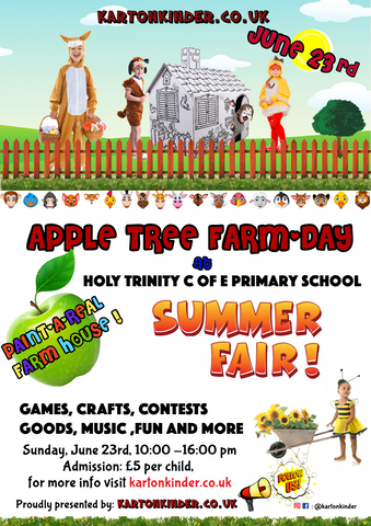 Kartonkinder kids activity farm day holy trinity cofe primary school summer fair