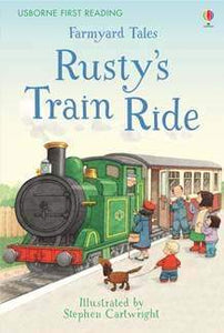 Farmyard Tales Rusty's Train Ride  HARDCOVER  kapak resmi usborne KartonKinder