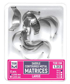 Saddle Contoured Metal Matrices large (Shape 1) 12pcs