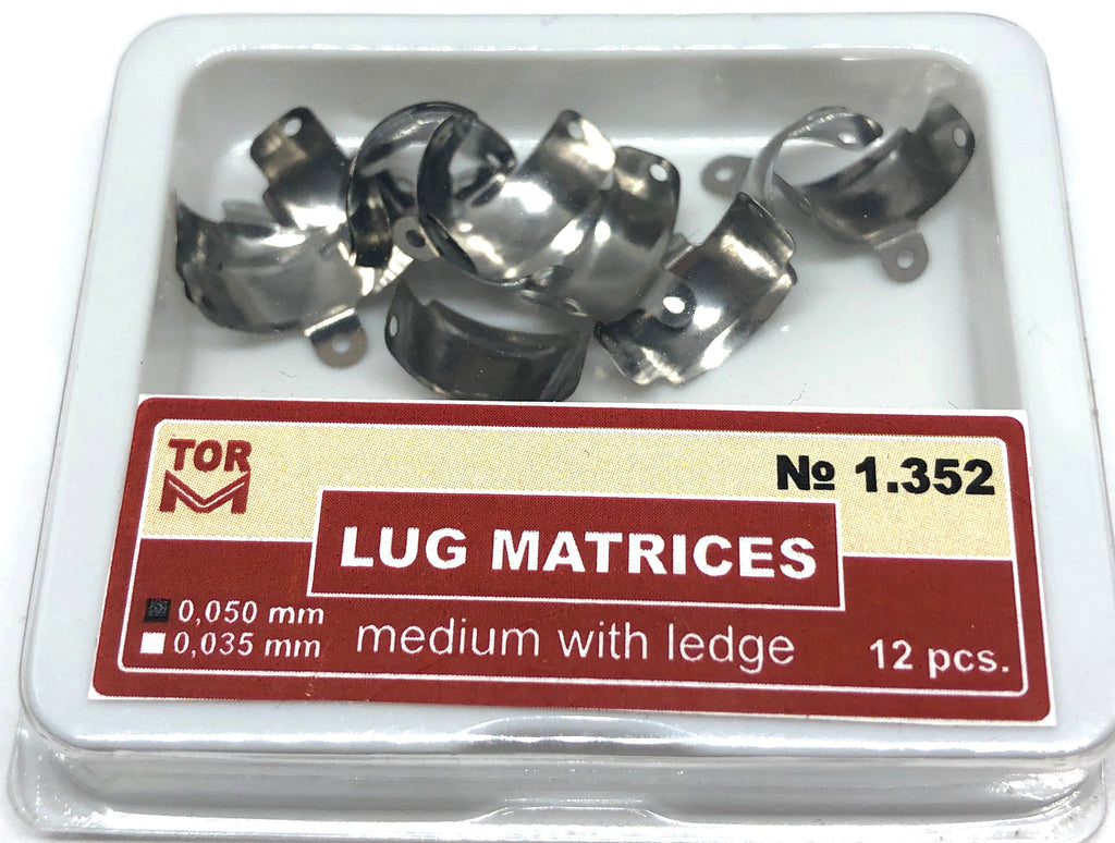 Lug Matrices Medium With Ledge 12 pcs