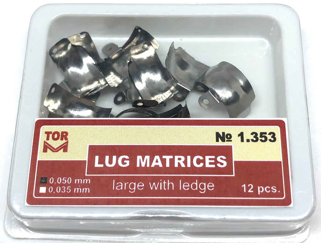 Lug Matrices Large With Ledge 12 pcs