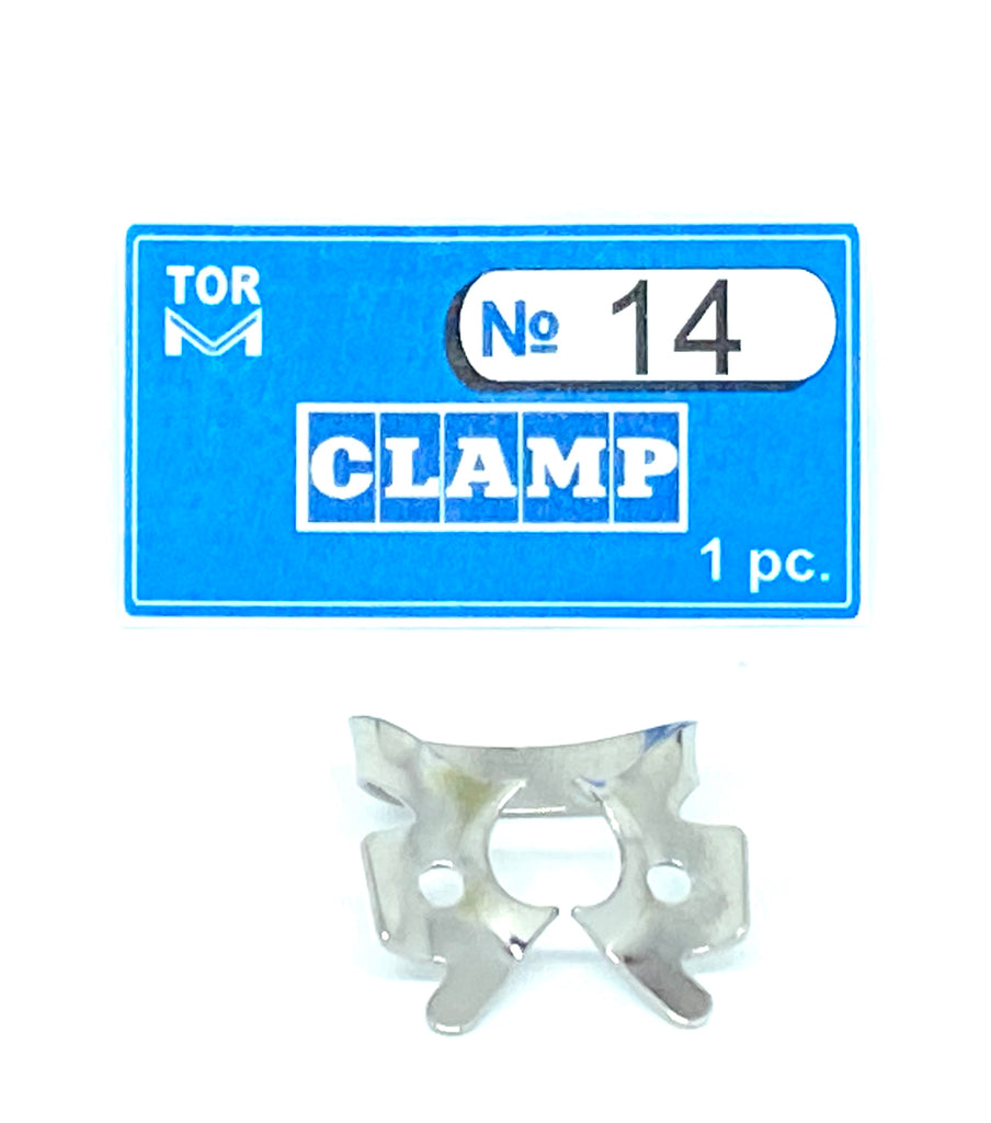 Clamp 14 (for partially erupted or irregularly shaped molars)