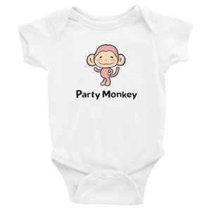 Uncle Bobo's Party Monkey Infant Bodysuit White