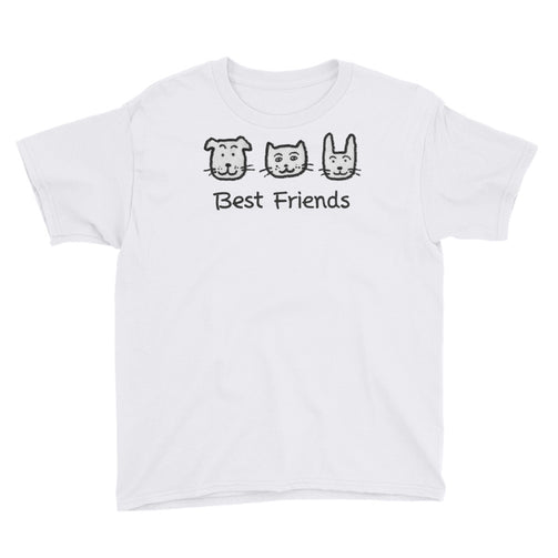 Uncle Bobo's Best Friends Youth T-Shirt White