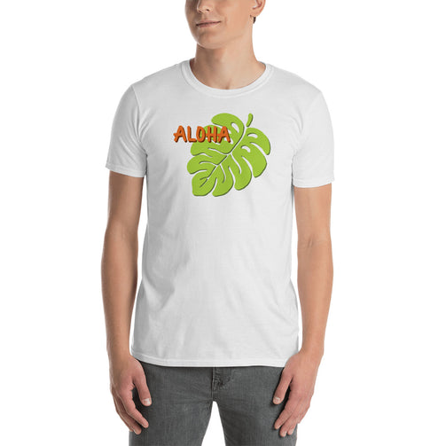 Uncle Bobo's Hawaii Monstera Unisex T-Shirt White