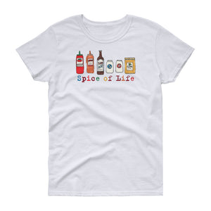 Uncle Bobo's Colorful Spice of Life Women's T-shirt White