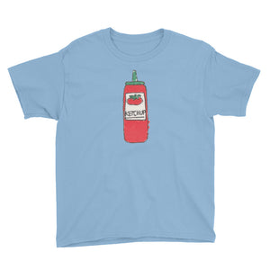 Uncle Bobo's Ketchup on your Youth T-Shirt Light Blue