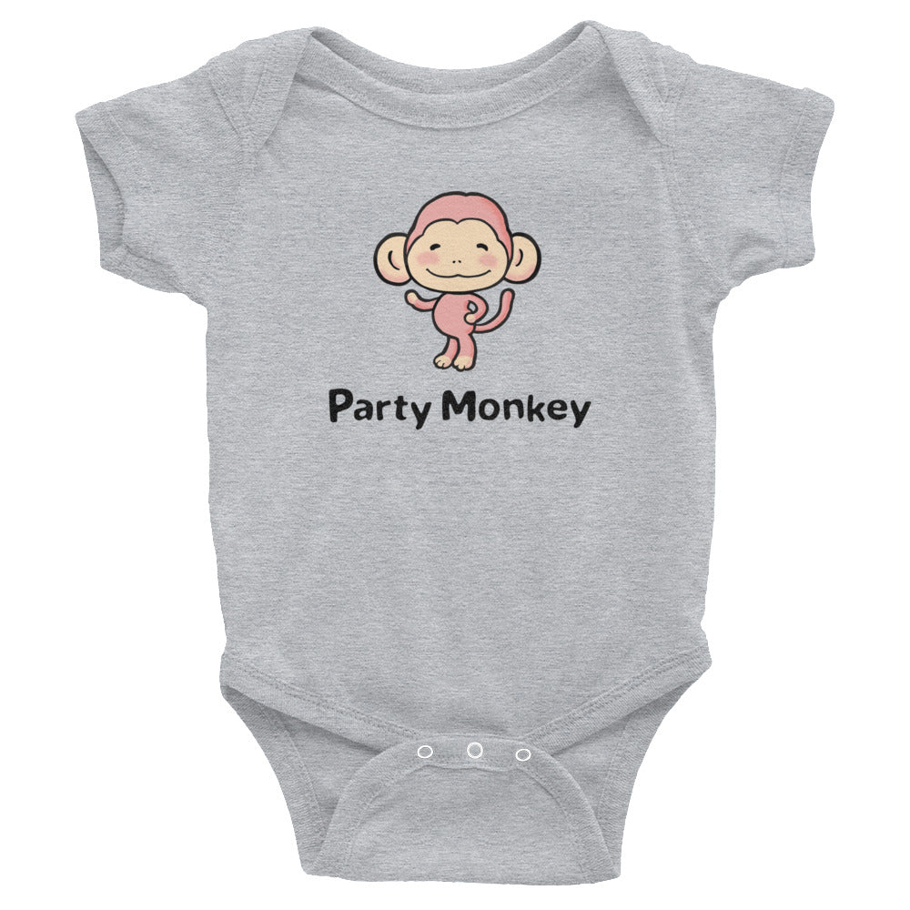 Uncle Bobo's Party Monkey Infant Bodysuit Gray