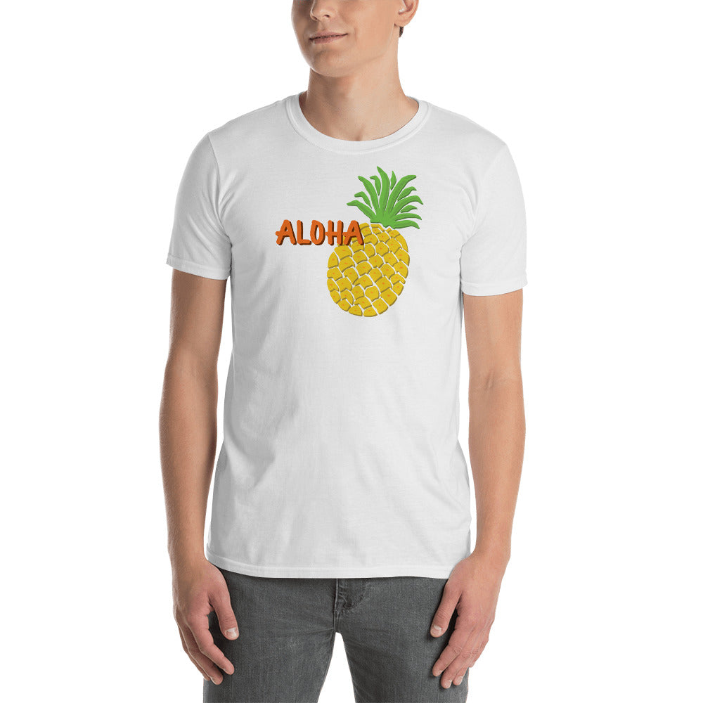 Uncle Bobo's Hawaii Pineapple Unisex T-Shirt White