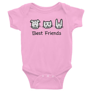 Uncle Bobo's Best Friends Infant Bodysuit Pink