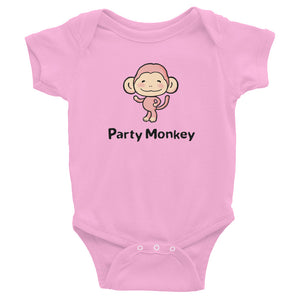 Uncle Bobo's Party Monkey Infant Bodysuit Pink